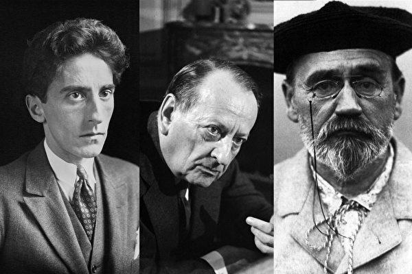 許多標誌著法國歷史的著名作家都在沒有獲得高中畢業文憑的情況下取得了輝煌的成就。(大紀元製圖)