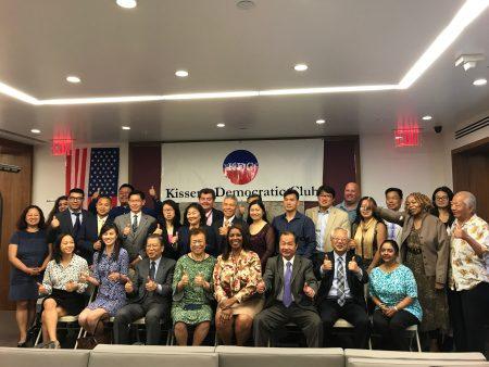 凱辛娜民主黨俱樂部支持詹樂霞()競選紐約州總檢察長一職。