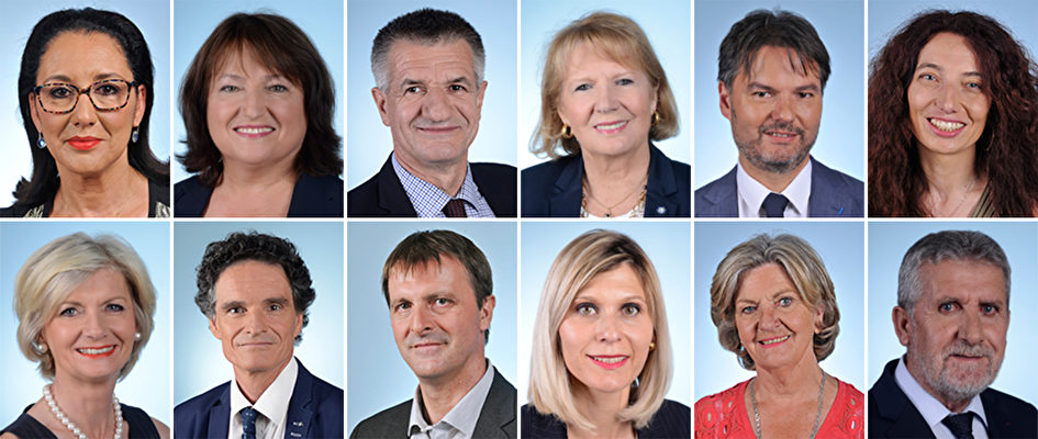 12位給法國政府歐洲及外交事務部長上書的議員(大紀元製圖/法國國會網站)