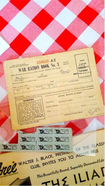 美国二战时的粮食配给券。