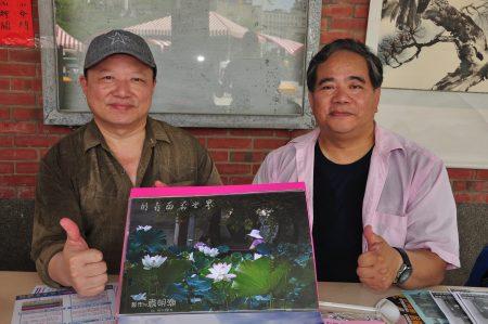 """罗极程老师(右)教授""""影像后制与美编中阶""""和简易素描,在竹北、竹东都有开课,两种课程相辅相成,对学摄影的人都有帮助"""