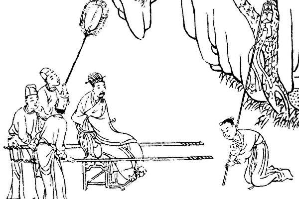图为刘向着《古烈女传》。(公有领域)