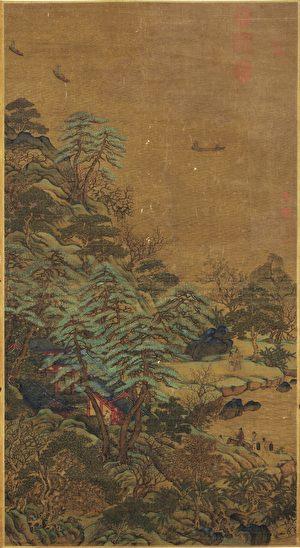 青绿山水与名作《江帆楼阁图》(1)
