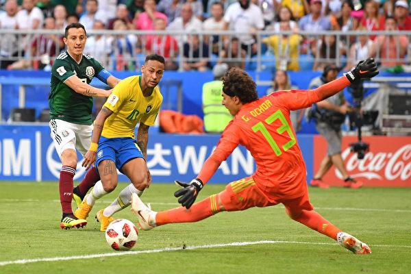 巴西2:0輕取墨西哥 連續7屆打進八強