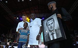非洲11岁男童替法国总统画肖像 惊艳全球
