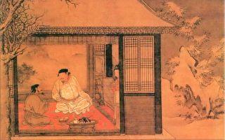 这是苏轼为好友钱穆父送别时所写的一首感情真挚、充满人生哲理的词。明 刘俊《雪夜访普图》局部。(公有领域)