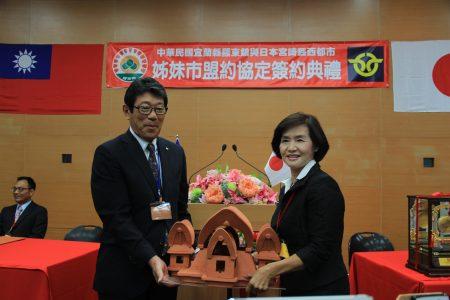 日本西都市贈送給羅東鎮禮物。