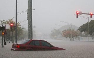 四级飓风袭击夏威夷 引发暴雨洪灾山体滑坡
