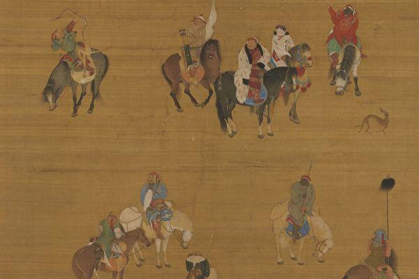 在蒙元军团中,汉人将领不仅威猛无比,还具有仁义慷慨的大将风范。图为元 刘贯道《元世祖出猎图》局部,台北国立故宫博物院藏。(公有领域)