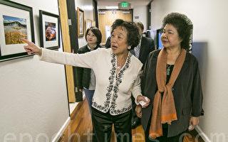 陈菊访北加州台湾会馆 会见乡亲搏感情