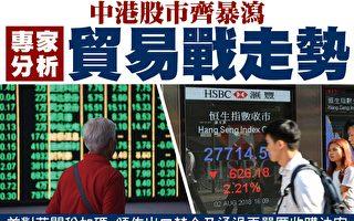 中港股市齊暴瀉 專家分析貿易戰走勢