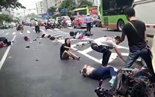 南宁发生重大车祸 面包车失控致26人死伤