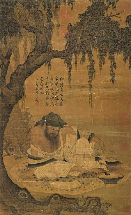 宋 《柳陰高士圖》,台北國立故宮博物院藏。(公有領域)