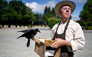 法國烏鴉當上清潔工 教育遊客重環保