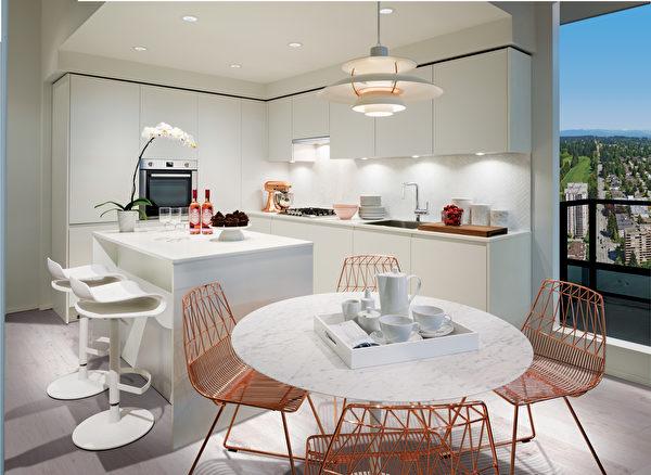室内色彩风格独特,提供三种色系供选择,包括高贵的白色系列、成熟的褐色系列、以及时尚的黑色系列。