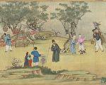 清朝有两位姓费的善人,他们都同样乐于行善,只是方式不同,都受到皇帝的诰封。图为清 丁观鹏《太平春市图》。(公有领域)