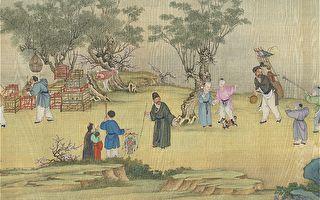 清朝有兩位姓費的善人,他們都同樣樂於行善,只是方式不同,都受到皇帝的誥封。圖為清 丁觀鵬《太平春市圖》。(公有領域)