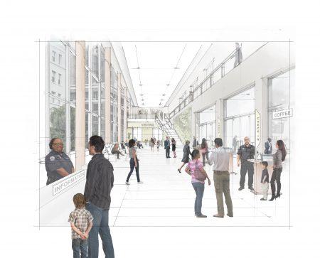 新的监狱设计,访客区宽敞明亮。