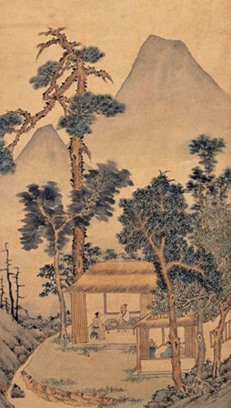 圖為明 文徵明《品茶圖》局部,台北國立故宮博物院藏。(公有領域)