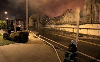 桃園蘆竹銅雕工廠延燒2廠房  廠區付之一炬