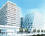 列治文加拿大線Brighouse站附近將開發四個主要的物業群,包括9棟大樓,提供1,132個公寓單位。(GBL Architects推特)