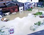 广东阳春市出现30年一遇的洪水。(当地居民提供)