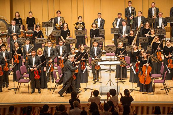 2018年9月14日晚,神韻交響樂團在屏東演藝廳舉行演出。(羅瑞勳/大紀元)