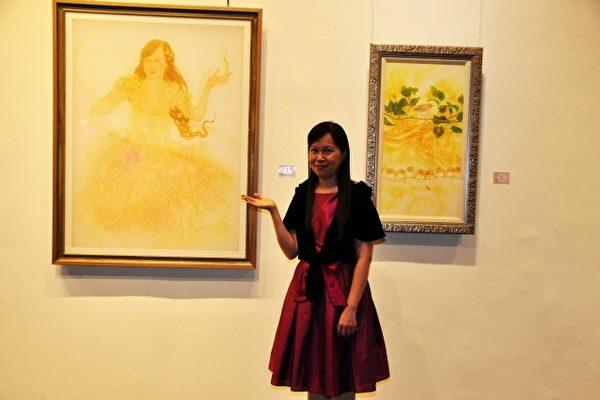 追求艺术境界、重拾美好时光 黄士纯办画展
