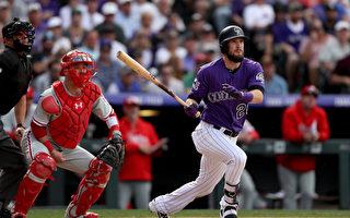 MLB落矶3轰横扫费城人 夺7连胜