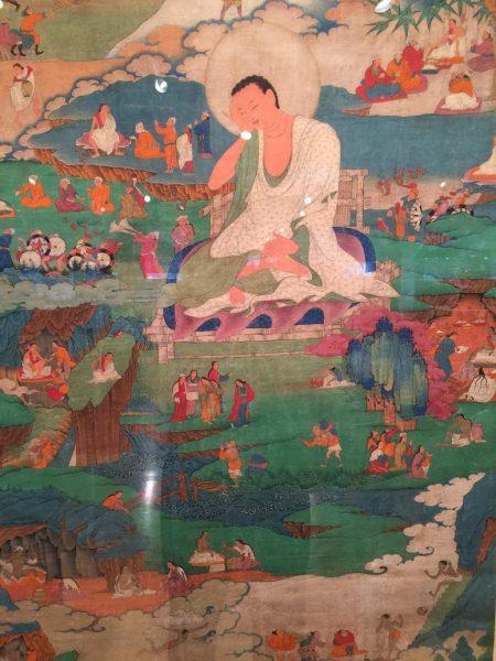 「亞洲藝術作品週」上展出的印度畫作。