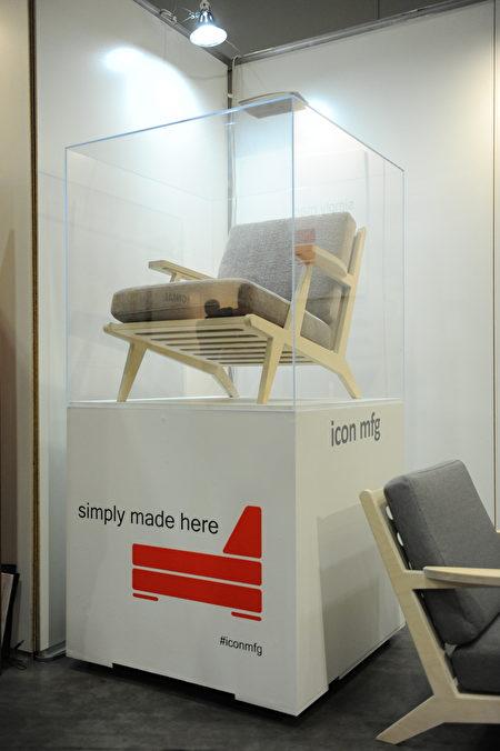 在温哥华室内设计展IDS上,icon公司展出的座椅。(童宇/大纪元)