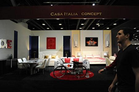 在温哥华室内设计展IDS上,由Casa Italia Concept展示的创意家居设计。 (童宇/大纪元)