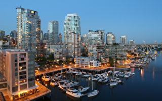 加拿大房地产协会的统计数据显示,8月份,受卑诗省销售量大幅下降拖累,全国房屋销售同比下降了4.8%。图为温哥华。 (Fotolia)