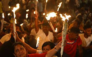 抗議中共租港口99年 斯里蘭卡萬人示威