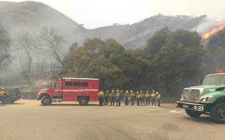 聖蓋博山爆發山火 露營者撤離