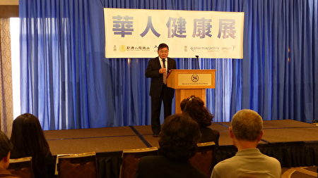 市议员顾雅明在新唐人健康展上表示,健康是财富,希望民众多参加健康讲座,多学习医疗健康知识。