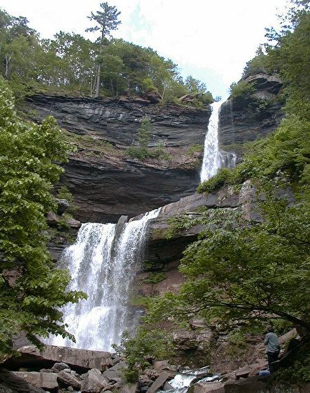 卡特斯齊爾瀑布(Kaaterskill Falls)。(維基百科公有領域)
