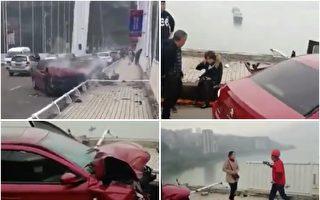 【更新】重庆大巴坠江 2死传20多人失踪