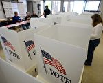 美国公民在一个投票站进行投票。(ROBYN BECK/AFP/Getty Images)