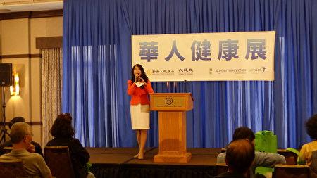 """大纪元时报、新唐人电视台媒体集团在法拉盛举办""""新唐人健康展"""",关注血液癌症。"""