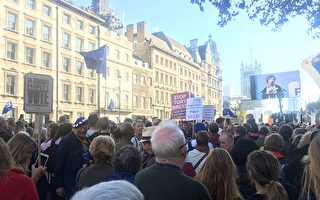 伦敦大游行 留欧派政要现身声援二次公投
