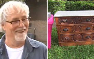 他100美元买下19世纪古董柜 意外发现藏宝层