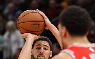 NBA汤普森三分弹破纪录 勇士抗公牛夺5连胜