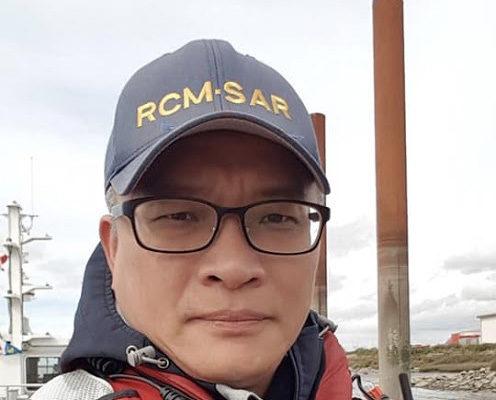林聖洋(James Lin)是加拿大皇家海巡救援隊的義工成員。(林聖洋提供)