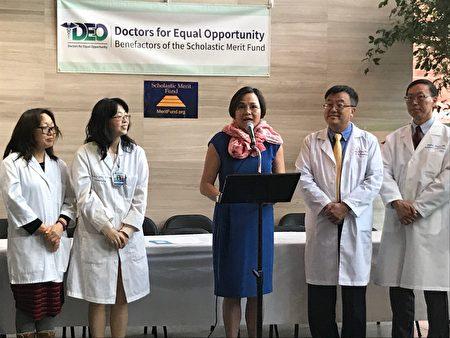 亚美医师协会首席运营官沈卉发言。