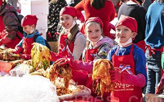 组图:首尔泡菜文化庆典 六千人温馨分享