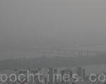 受中国雾霾影响 韩国首都天空灰濛濛