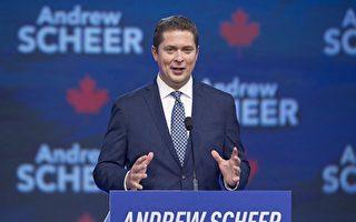 联邦保守党党领谢尔表示,今天更高的债务意味着明天要征收更多的税。(加通社)