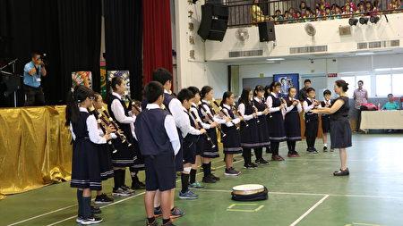 大同國小小朋友為現場帶來美妙的直笛吹奏。
