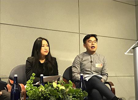 """毕业于布碌崙科技高中的吴兴国(右)认为,现行的SHSAT有""""歧视性""""。"""